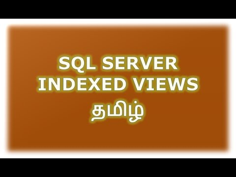 Indexed Views in SQL Server Tamil