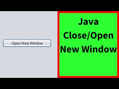 Java - How To Close Window And Open Another Using Java NetBeans [ with source code ]