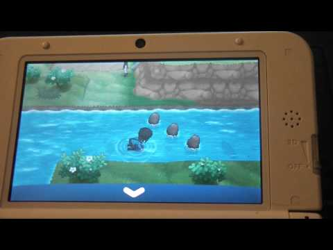 shiny gyarados pokemon x chain fishing + mega evolution