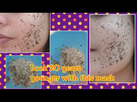 Look 20 years younger with Anti Ageing GreenTea Face Mask,Remove wrinkles & fine line