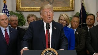 President Donald Trump delivers statement on Iran nuclear deal