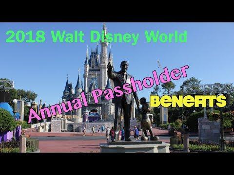 2018 Walt Disney World Annual Passholder Benefits