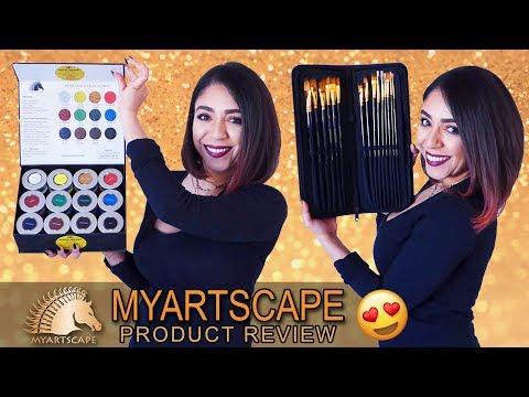 MYARTSCAPE Acrylic Paint & Brush REVIEW