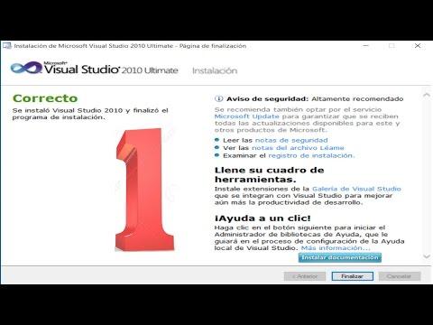 Instalar Visual Studio 2010 en Windows 10 a 32