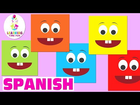 The Colors in Spanish | Spanish for Kids, Los Colores, Español para Niños, Learning Time Fun Spanish