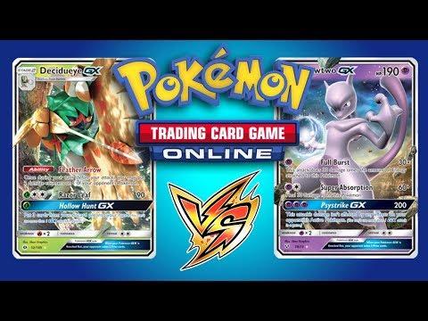 Decidueye GX vs Buzzwole GX and Mewtwo GX - Pokemon TCG Online Gameplays