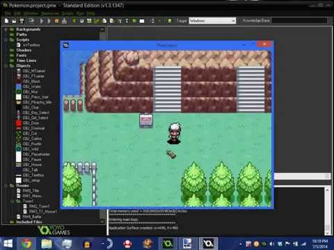 Updated pokemon engine for Game maker studio