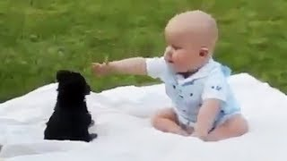Children and Pets  👶😍  Funny Children Playing with Pets [Funny Pets]