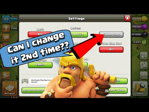 Conditions to Change CoC Username 2nd Time! | Clash of Clans