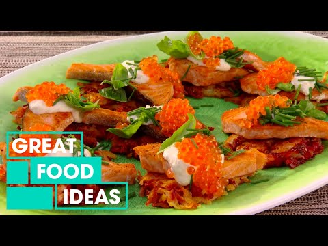 How To Make Salmon With Crispy Potato Rosti & Salmon Roe | Food | Great Home Ideas
