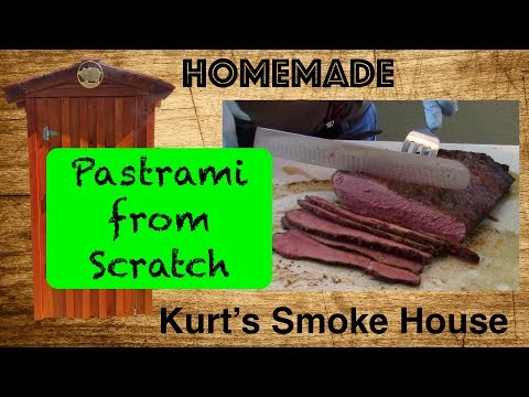 Homemade Pastrami - How to make Pastrami using a brisket flat in the Bradley Smoker