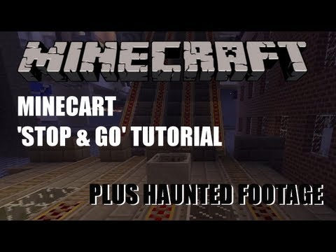 Minecart Stop and Go - Minecraft Tutorial