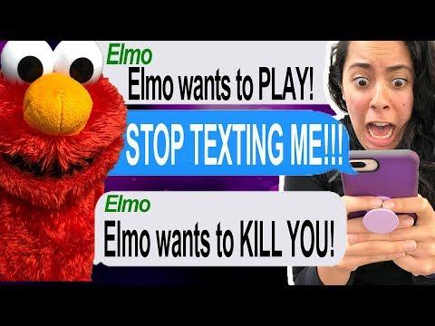 Texting Tickle Me Elmo!!! *HE TRIED TO KILL ME!!!*