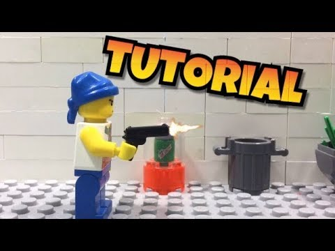 How to do gun shooting effects in a LEGO stop motion (for free)