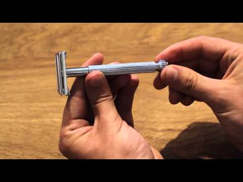 Safety Razors - 3 Piece, Twist-to-open, and how to load the razor blade.