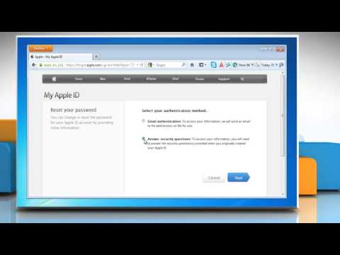 How to change Apple® ID and iTunes Password