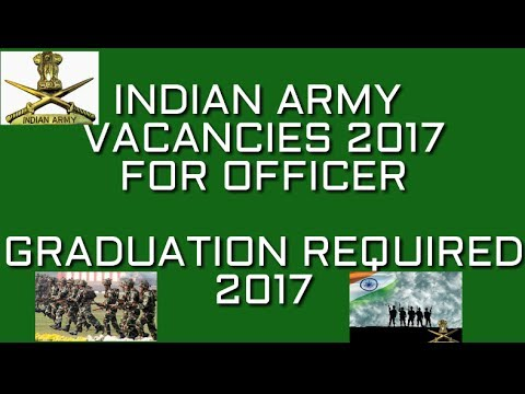jobs vacancy in indian army(territorial army) for graduates ...join army as officer in 2017