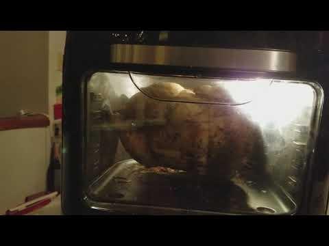 Power air fryer oven Rotisserie chicken