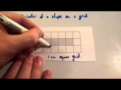 Perimeter of shape on a grid - Corbettmaths