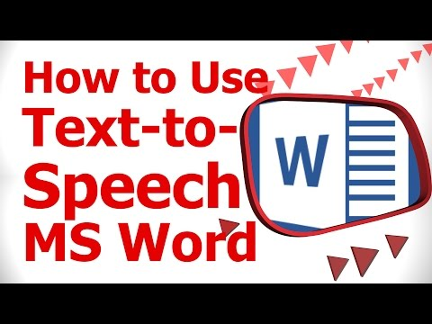 How to Use Text to Speech MS Word
