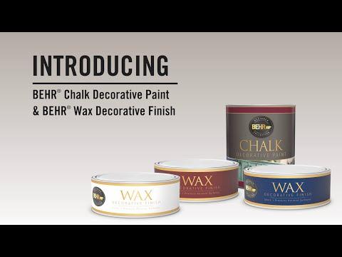 Behr Presents: Chalk Decorative Paint + Wax