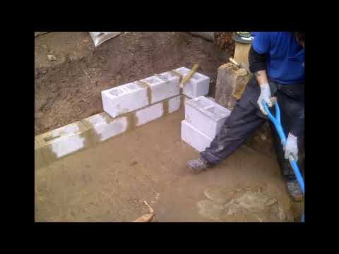 Tank base and wall build film The Croft)