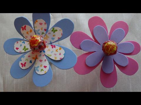 DIY lollipop -Chupa Chups-craft.How to make a flower using decor foam.