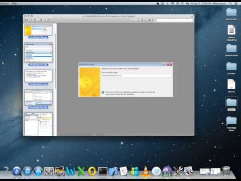 MAC OS X Print Images or scanned documents to PDF