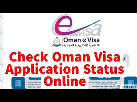 Check Oman Visa Application Status Online