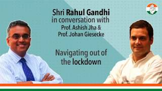 Shri Rahul Gandhi in conversation with global public health expert, Prof Ashish Jha