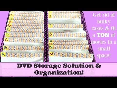 DVD Storage Solution & Organization! 260 DVD's Stored in only 12