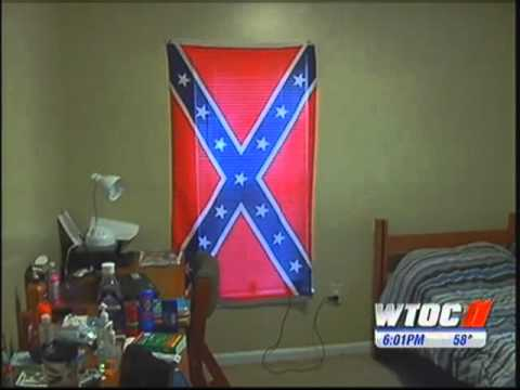 Black College Student Wins Right To Hang Confederate Flag In Dorm Room!