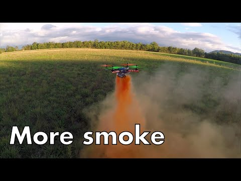 More smoke, quadcopter and smoke grenade