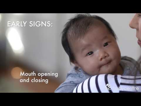 Eight signs your baby is hungry