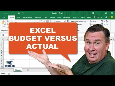 Learn Excel - Budget versus Actual - Podcast 2016