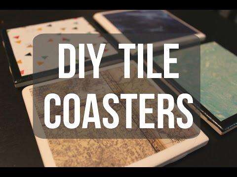 DIY Tile Coasters ♡ ErinTheInsomniac