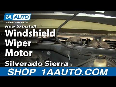 How To Install Replace Windshield Wiper Motor 2000-06 Silverado Sierra Suburban Tahoe Yukon