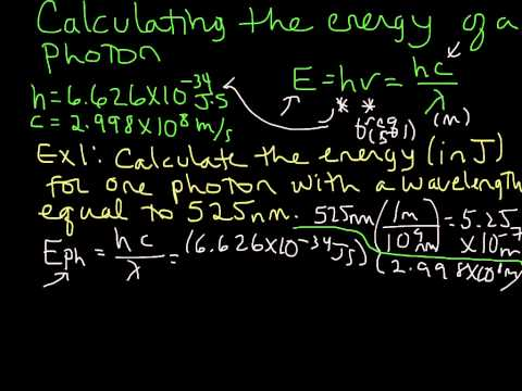 Calculating the Energy of a Photon (given wavelength)