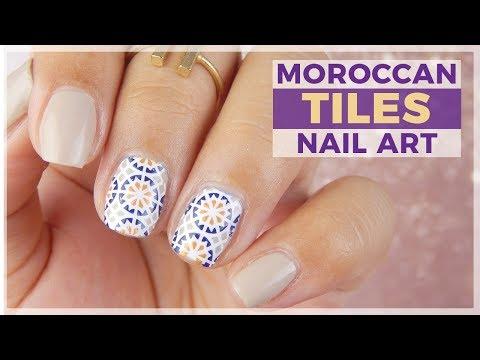 Moroccan Tiles Nail Art Design