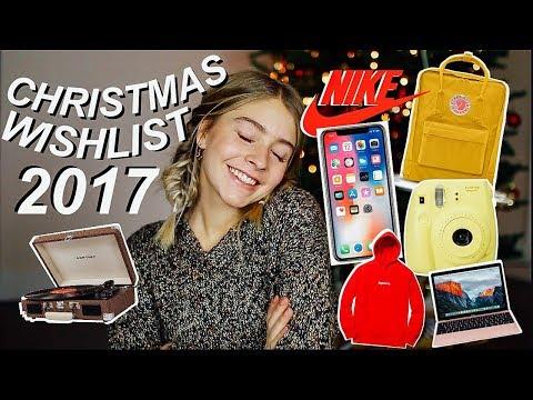 Teen Christmas Wishlist 2017