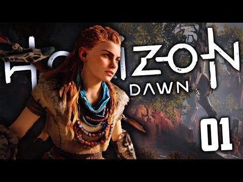 THIS GAME IS AMAZING! ROBOT DINOSAURS! - Horizon Zero Dawn #01