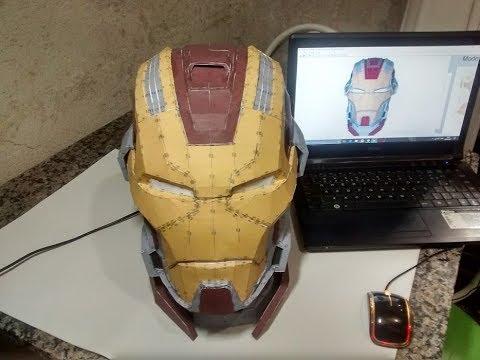 Iron man helmet Mk17 (heartbreaker) Pepakura