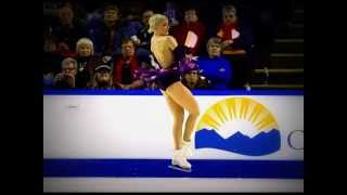 Patinadora Viktoria HELGESSON rompe vestido durante su actuación   2014 Skate Canada International