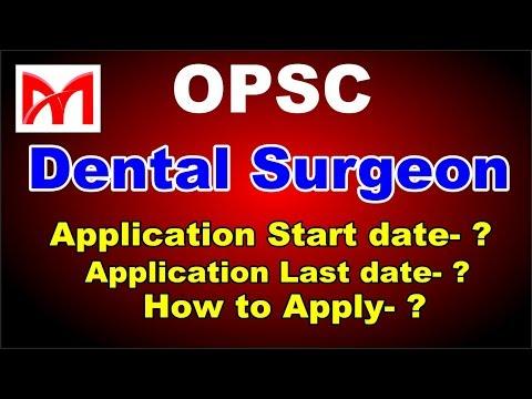 OPSC Recruitment 2018!! Latest Gov. job 2018 I Dental Surgeon Vacancy I Full Information.
