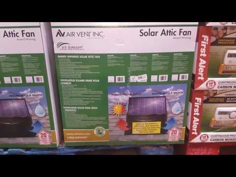 COSTCO! Solar Attic Fan $299
