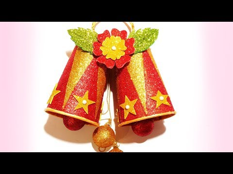 How To Make Christmas Bells From Coffee Paper Cups | DIY Jingle Bells | Christmas Decoration Ideas