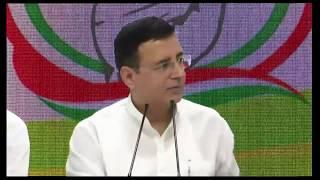 Randeep Surjewala-कांग्रेस की प्रेस कॉन्फ्रेंस Live