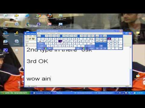 Microsoft Windows XP Random Tricks Episode 1 On Screen Keyboard