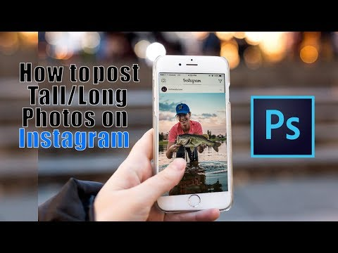 How to post TALL/LONG photos on Instagram - Photoshop