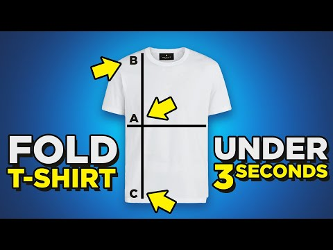 T-Shirt Folding HACKS | Fold Shirt In Under 3 Seconds? | 4 Ways To Fold Tee's